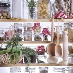 Pantry staples on a shelf